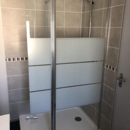 Maisons d'hôtes, location au milieu des châteaux de la Loire, salle de bain douche italienne